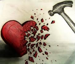 hjärtkrossad