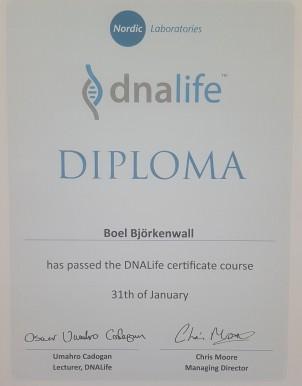 Nordic Laboratories diplom