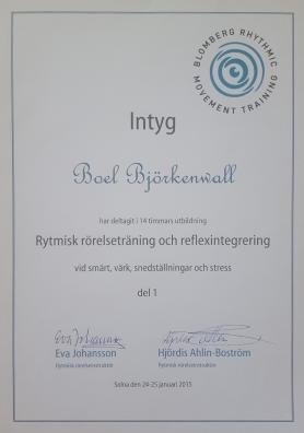 rytmisk rörelseträning diplom